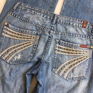 "7 for All Mankind Dojo Wide Leg Jeans Size 28x32"""